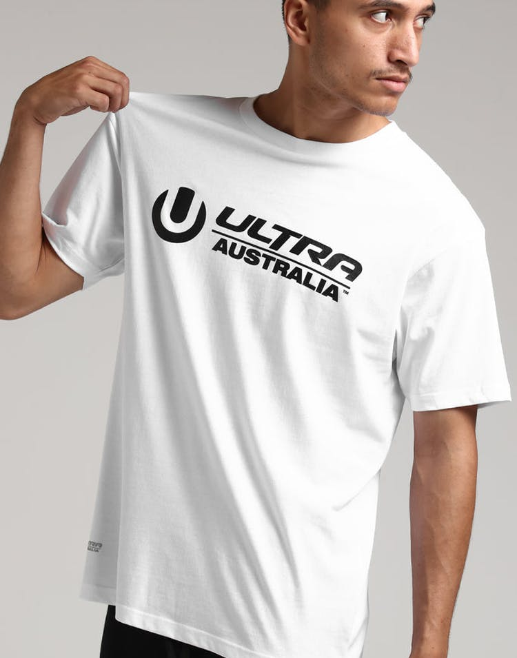 Ultra Australia Music Merch Logo Tee White