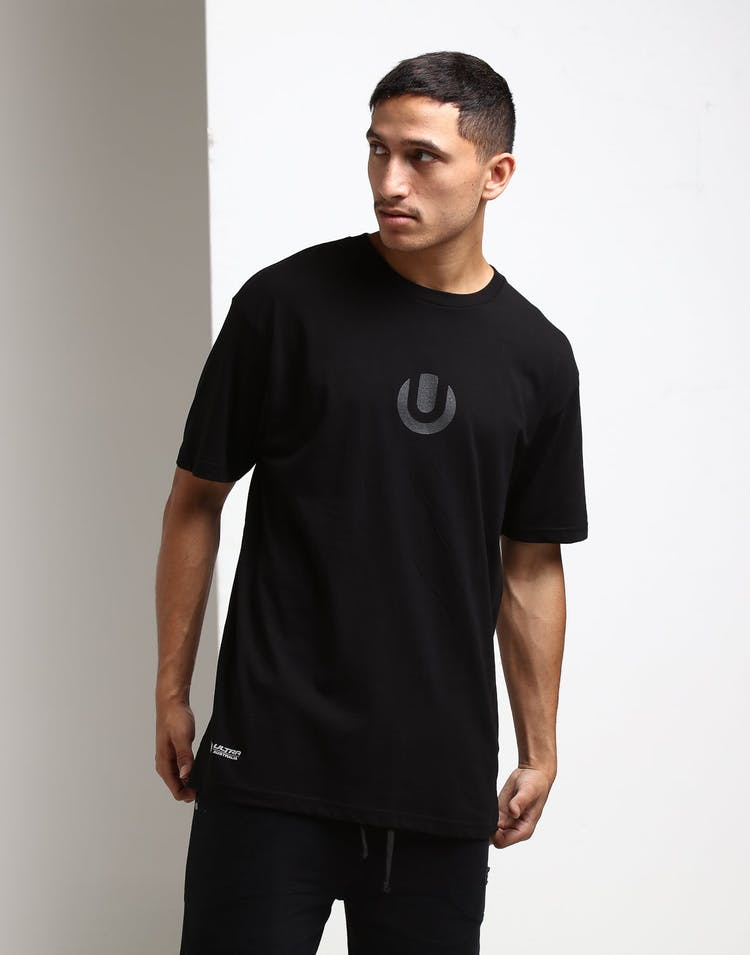Ultra Australia Music Merch Colour Tech Shirt Black