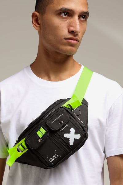 Loiter Area 51 Bum Bag Black/Green