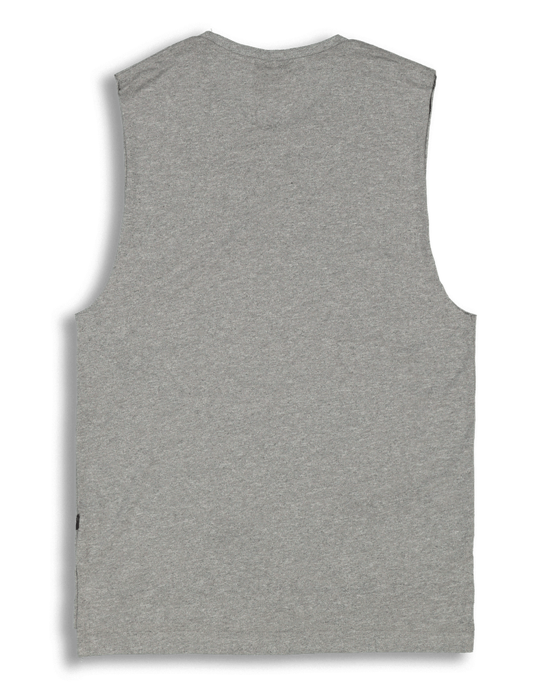 Carré Capsule Statique Muscle Tee Grey