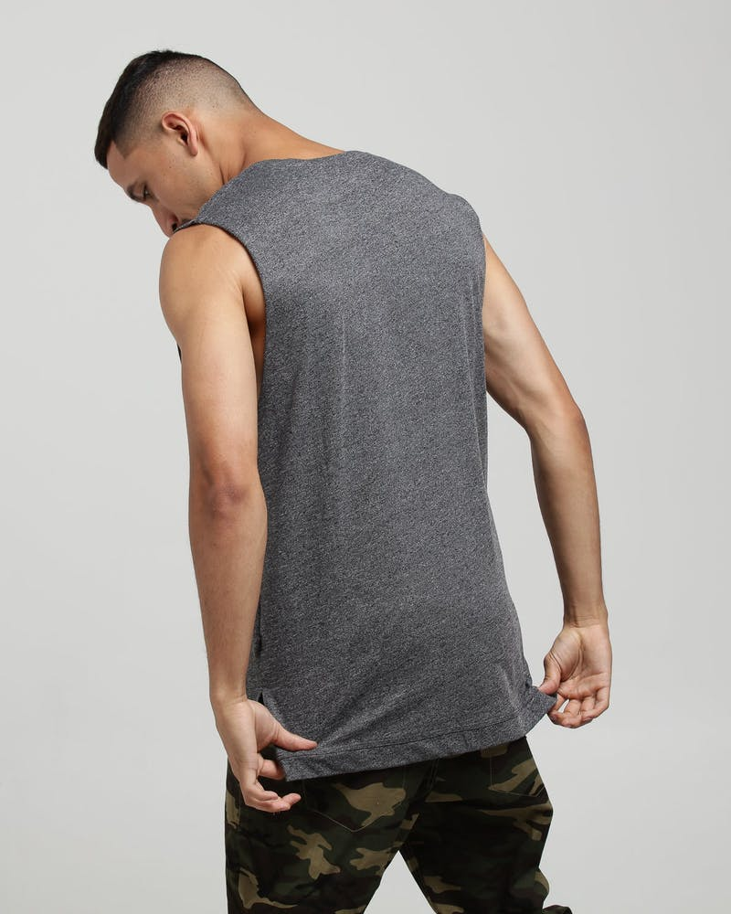 Carré Vacation Statique Muscle Tee Charcoal