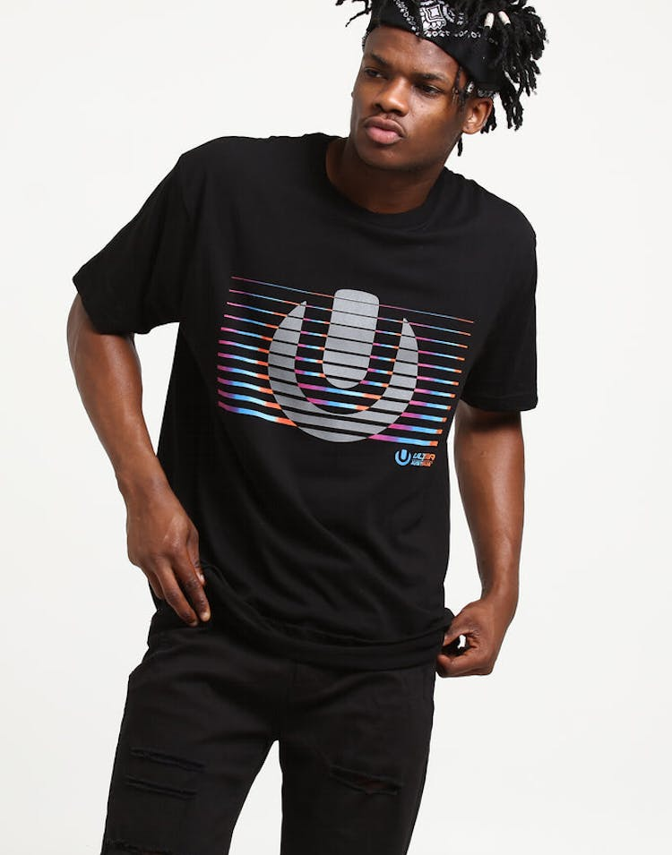 Ultra Australia Music Merch Gradient Tee Black