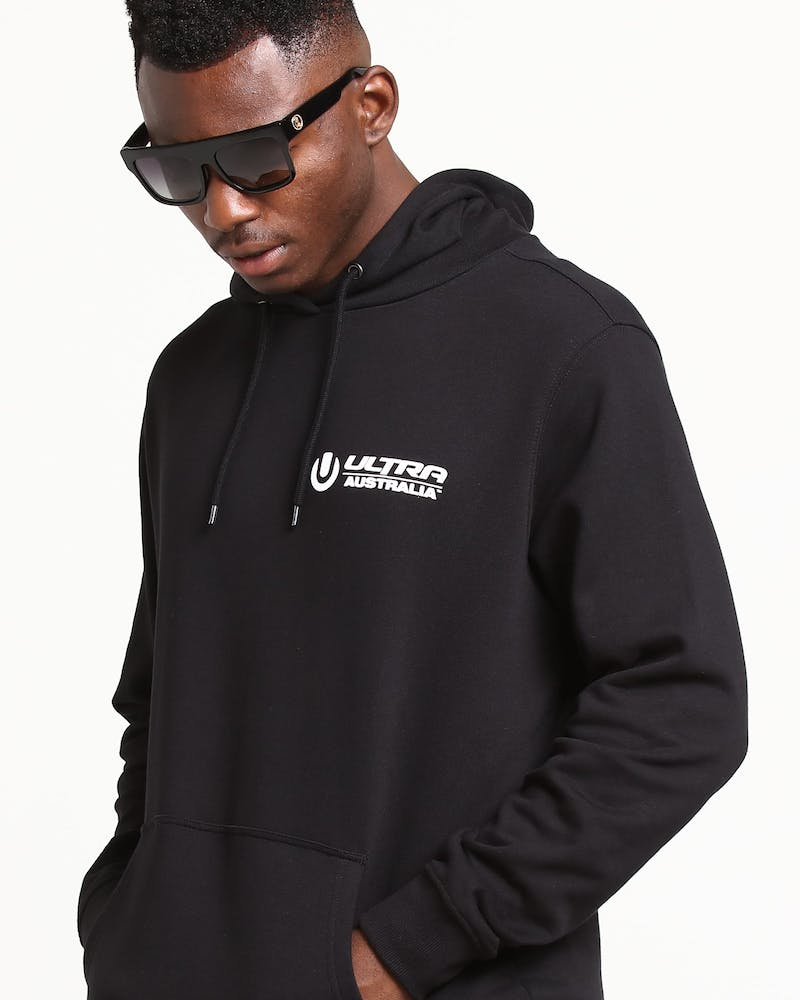 Ultra Australia Music Merch Logo Hood Black