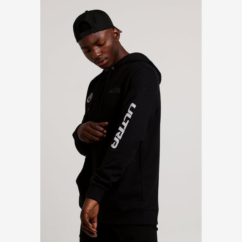 Ultra Australia Music Merch Pocket Logo Hoodie Black