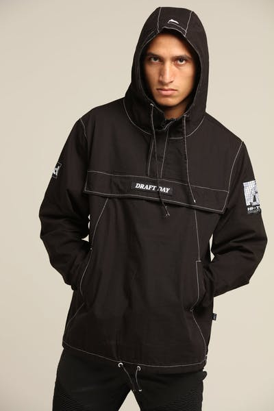 Draft Day Topper Top Anorak Black