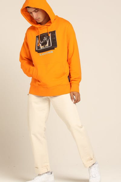 Loiter NYC Televised Hoodie Orange