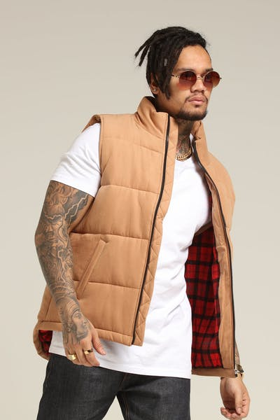 Grand Scheme Duck Season Puffer Vest Camel