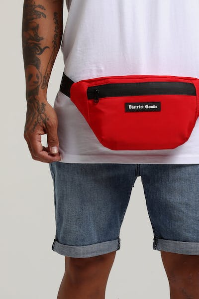 District Goods DG Bum Bag Red