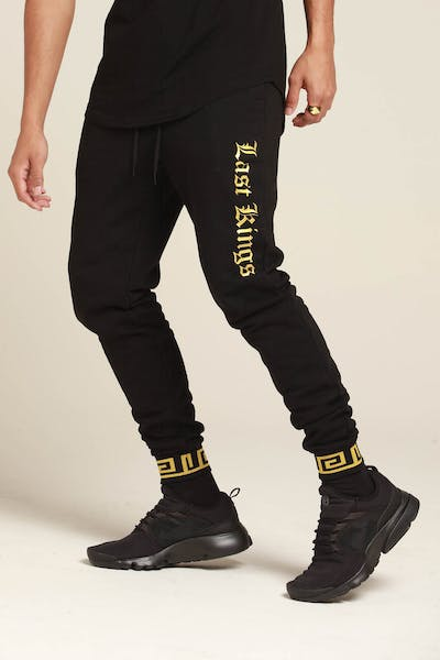 Last Kings Glossed Up Trackpants Black/Gold