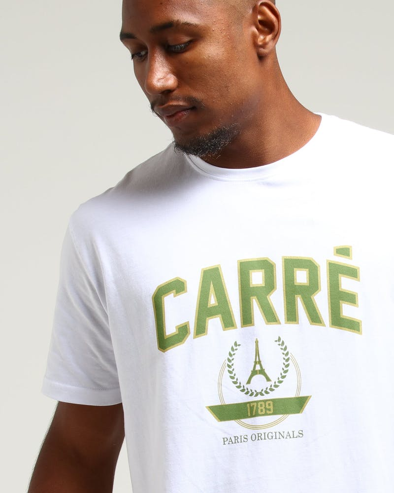 Carré Statement Divise SS Tee White