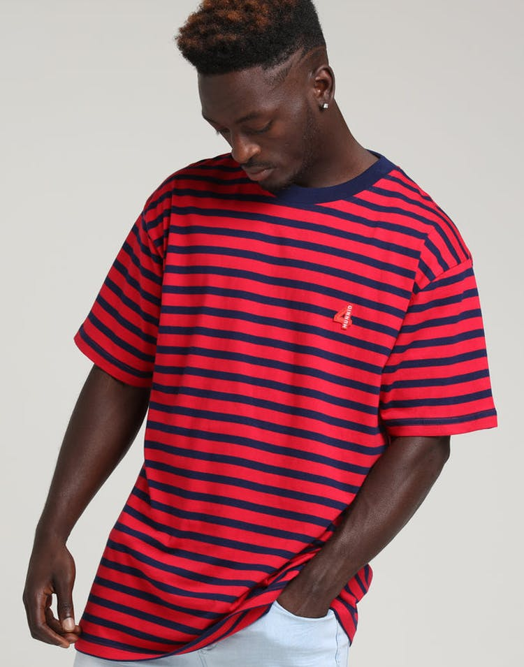 8d83b87c9083c 4HUNNID Stripe Tee Red – Culture Kings