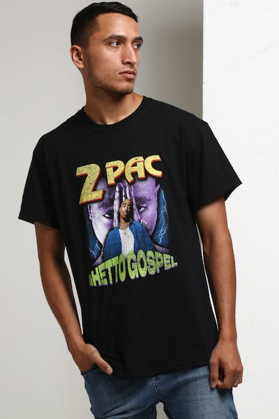 Tupac Ghetto Gospel Vintage Tee Black