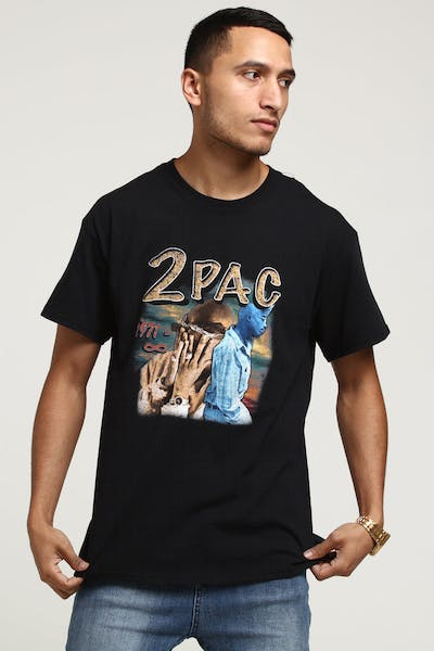Tupac Remember Tupac Vintage Tee Black