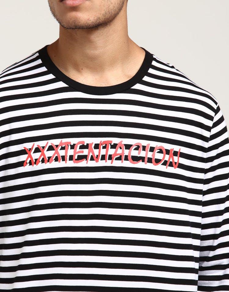 11c1f83e XXXTentacion Stripe LS Tee Black/White