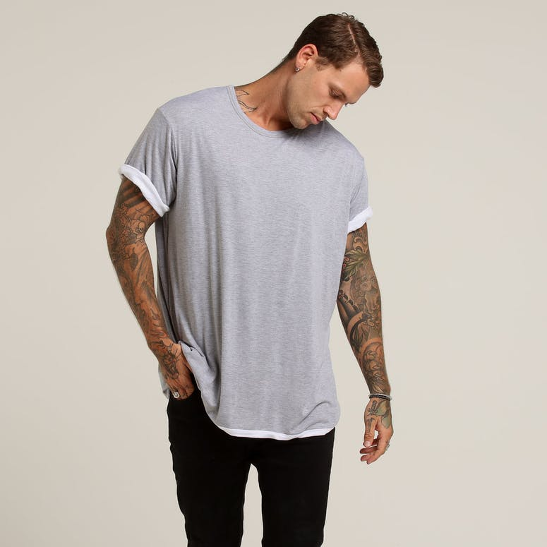 District Goods Ancient Reversible Tee White/Grey