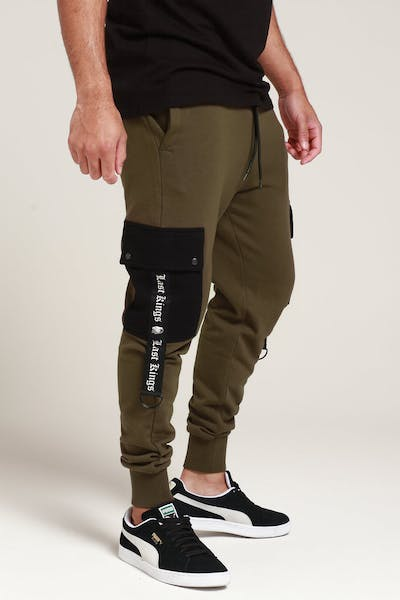 Last Kings State Of Mind Trackpants Army Green/Black