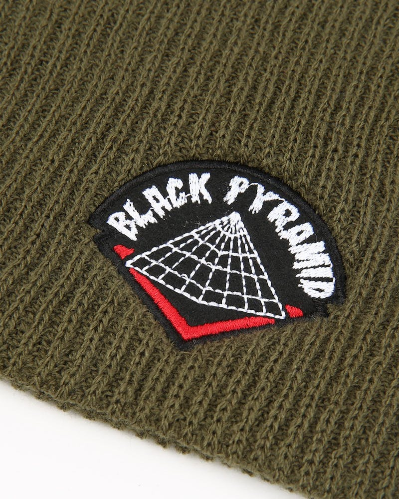 Black Pyramid Drip Logo Oversize Scully Olive