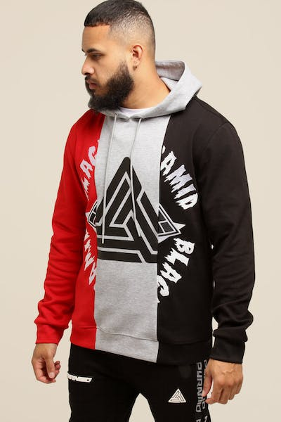 Black Pyramid 3 Way Split Hoody Red/Multi-Coloured