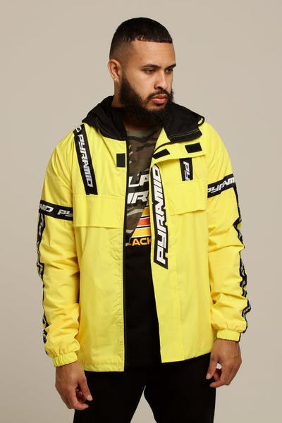 Black Pyramid BP Logo Tape Pullover Jacket Yellow
