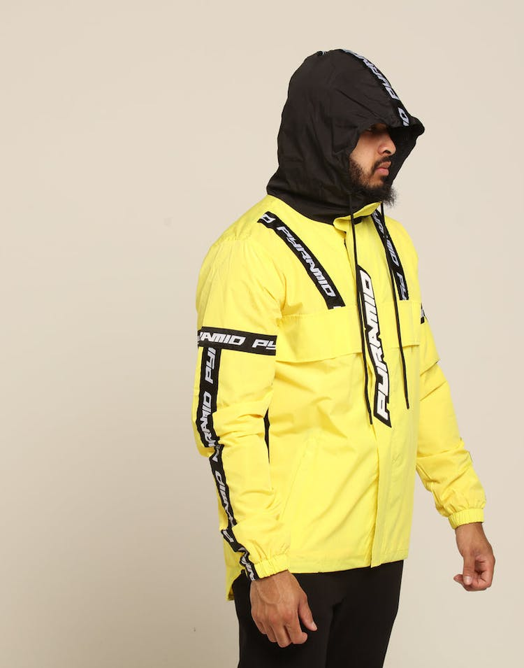93ca9ee4 Black Pyramid BP Logo Tape Pullover Jacket Yellow – Culture Kings