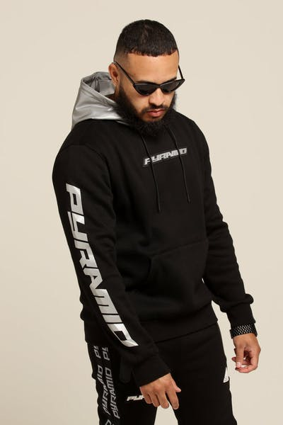 Black Pyramid Reflective Hoody Black