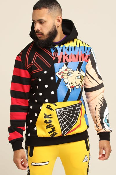Black Pyramid Pyramid Pop Collage Hoody Multi-Coloured