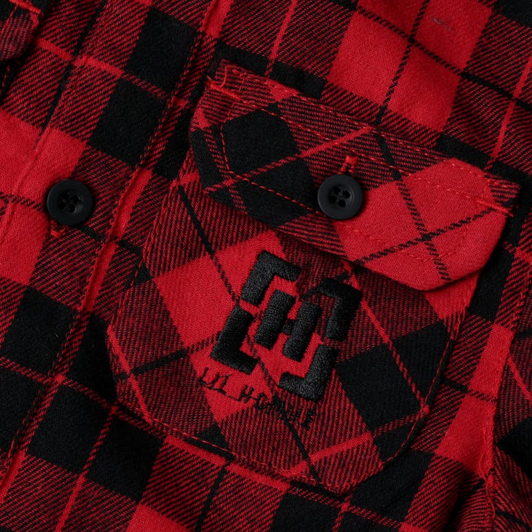 Lil Hommé Couper Long Sleeve Flannel Red/Black
