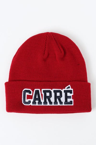 Carré Undefeated Beanie Red