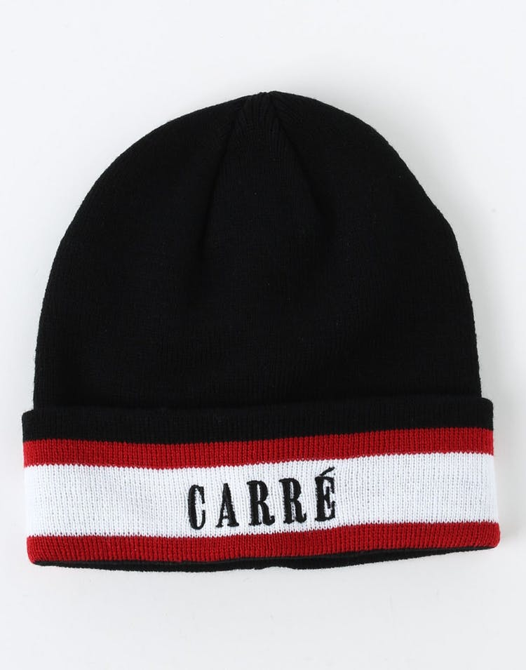 Carré LA Laine Beanie Black/White/Red