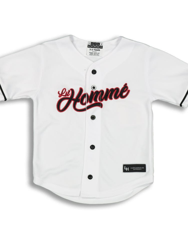 Lil Hommé Ligue Baseball Jersey White