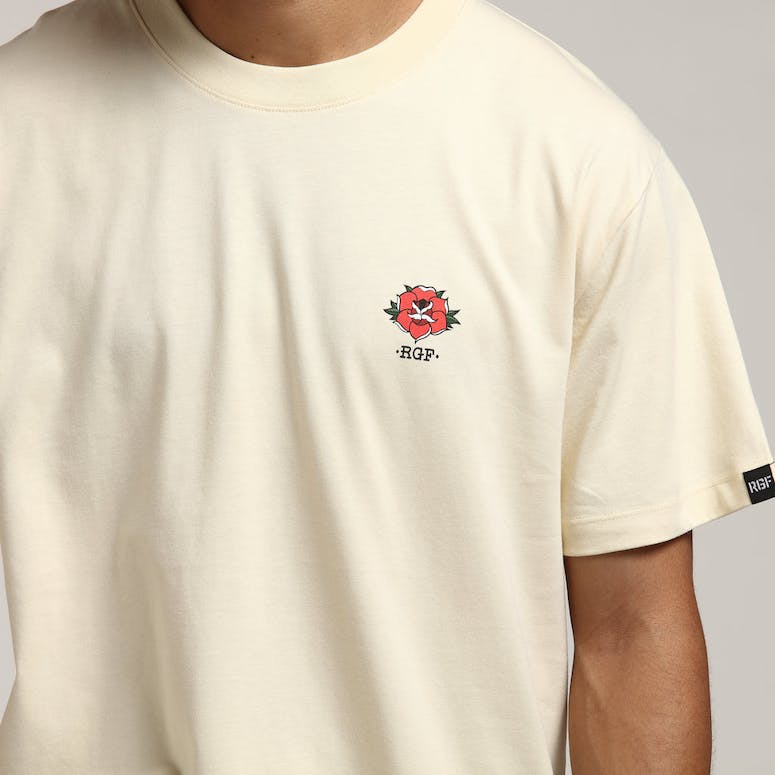 Rats Get Fat Full Bloom SS Tee Cream