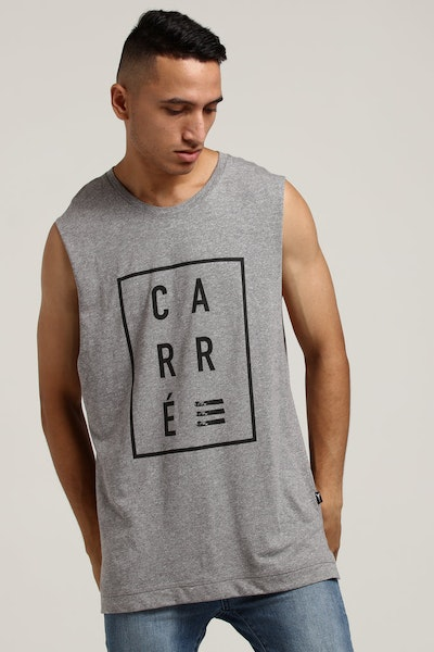 Carré Boxed Font Statique Muscle Grey