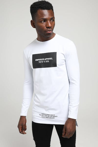 Emperor Apparel New York LS TShirt White