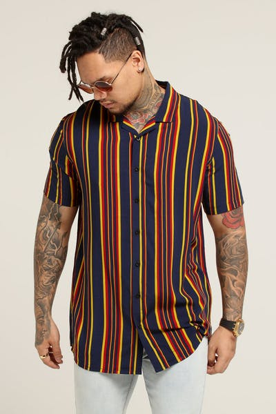New Slaves 70s Stripe Shirt Multi-Coloured