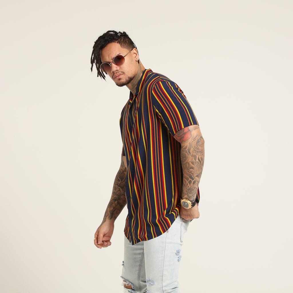 New Slaves 70s Stripe Shirt Multi-Coloured