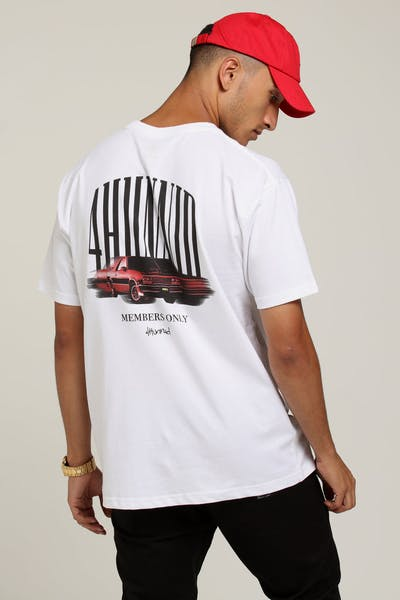 4HUNNID Car Tee White