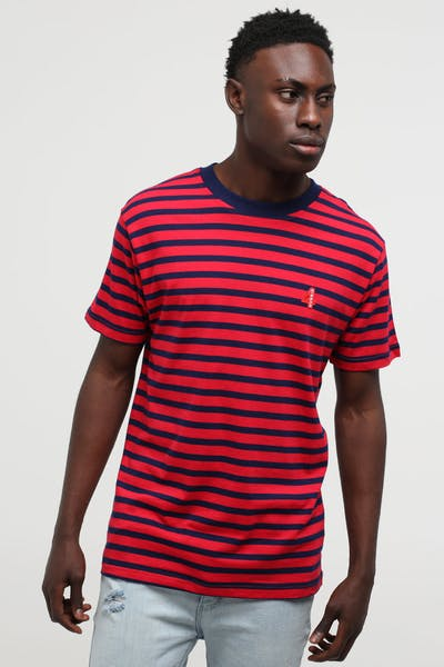 4HUNNID Red Stripe Tee Red
