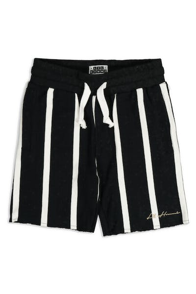Lil Hommé Bande Vert Fleece Short Black/White