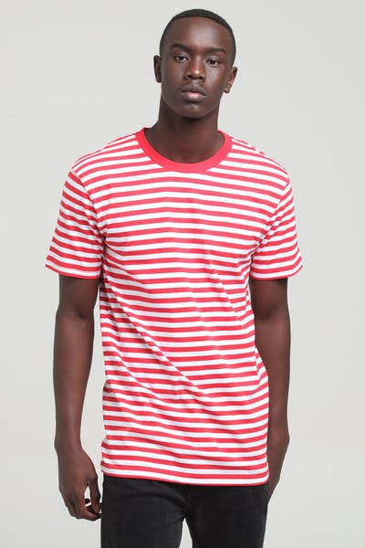 Well Made Standard Issue Stripe Tee Red/White