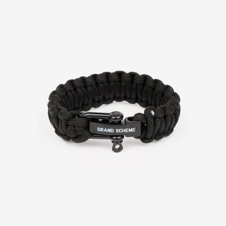 Grand Scheme Bungee Bracelet Black
