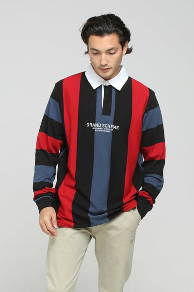 Grand Scheme Weekender Jersey Black/Blue/Red