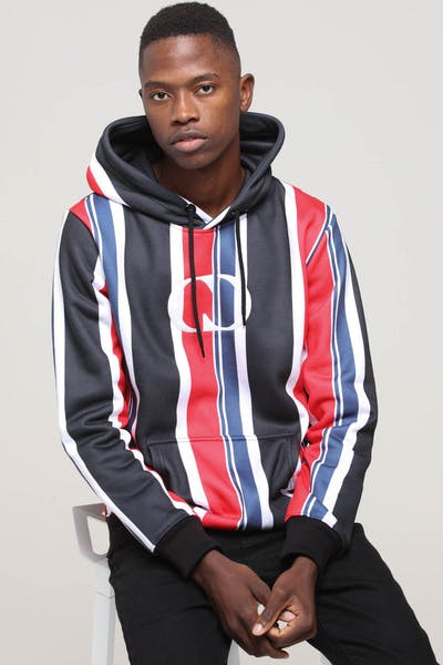 Criminal Damage Danny Stripe Hood Black/Multi-Coloured