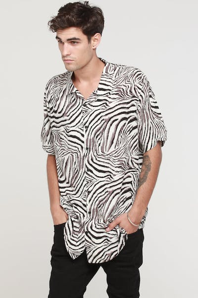 New Slaves Vanilla Ice Button Up Shirt Black/White