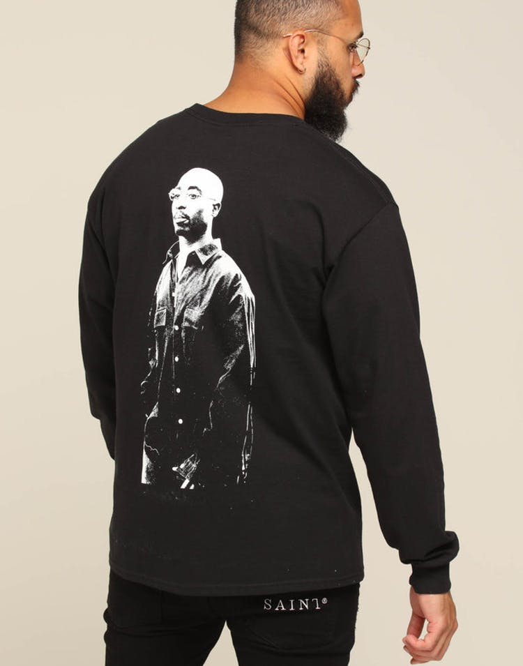 ea8edb51b049 Tupac Lyrics L S Tee Black – Culture Kings