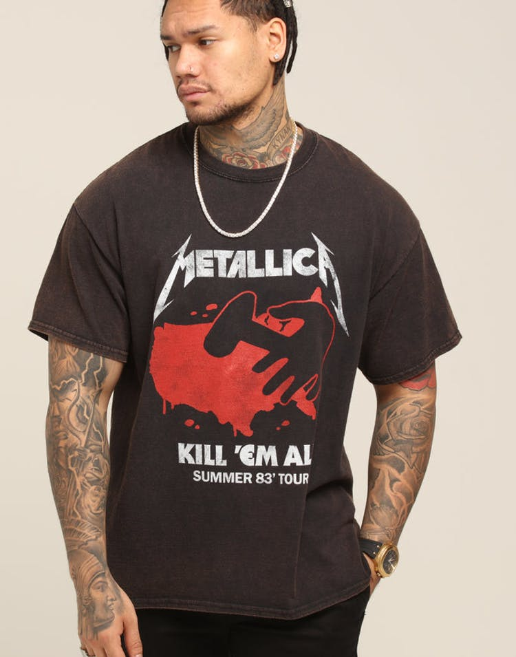 120751b60 Metallica Kill 'Em All Vintage Tee Washed Black – Culture Kings