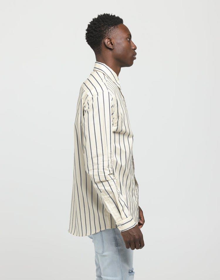 36ff86ee New Slaves Vintage Stripe LS Shirt Beige/Navy