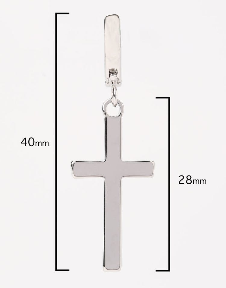 Saint Morta Cross Earring Silver