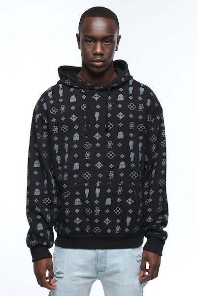 Billie Eilish Blohsh Pattern Hoodie Black