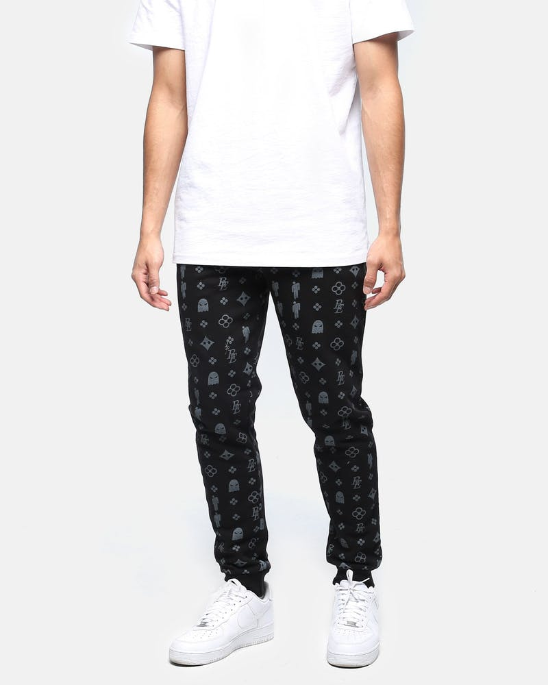 Billie Eilish Blohsh Pattern Track Pant Black