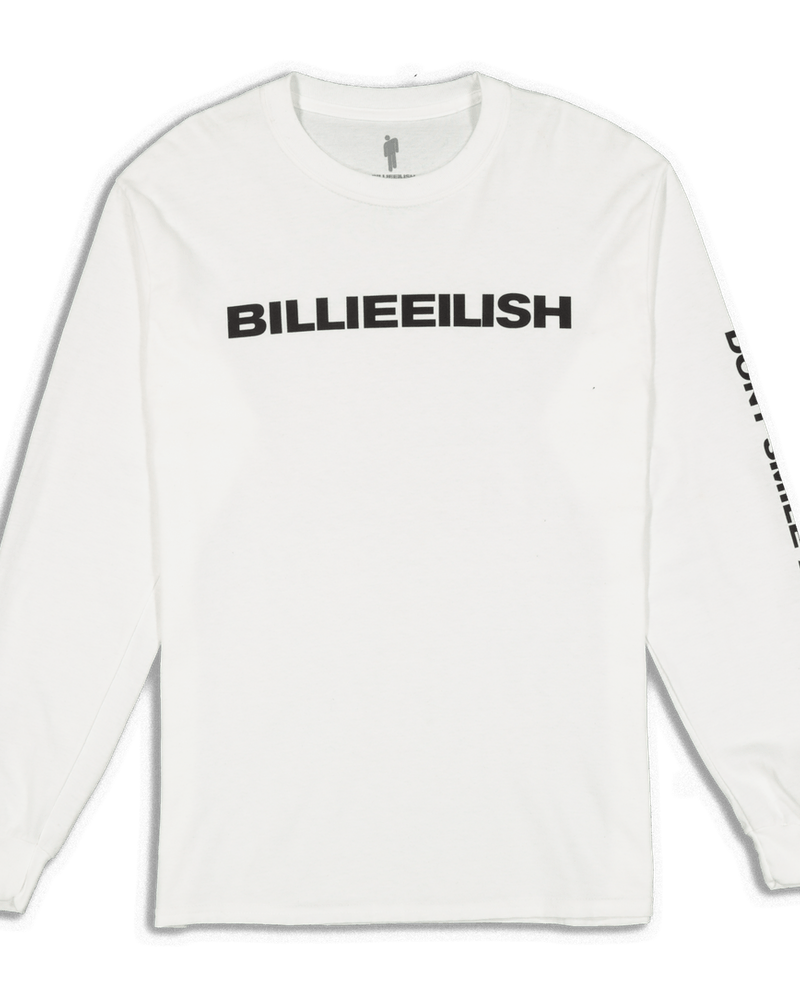 Billie Eilish Don't Smile At Me LS White
